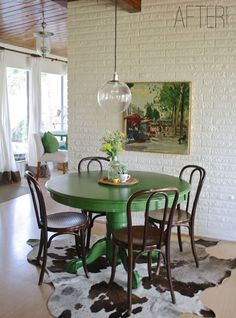 Adding colour to the dining room--repainting our black table to this???