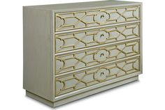 Olio - Refinements Drawer Chest (Aged Dove Grey finish)