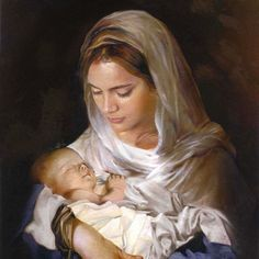 Our blessed Holy Mother Mary and son Jesus.