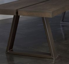 /—/ nosara Distinctive dining table with a wood top and a base made from hot-rolled steel tube. Available in large lengths. Prices from € 3.825,00 For questions and orders, click here. Dimensional drawing /—/ /—/ /—/ /—/ /—/ /—/