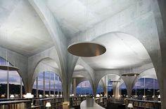 Barcelona, university library