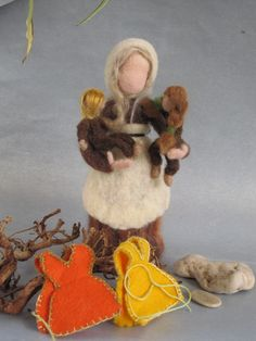 Items similar to Needle Felted Waldorf Fairy-Mother Earth- Sibylle von Olfers inspired standing doll--needle felt by Daria LvovskyMade to custom order. on Etsy Wet Felting, Needle Felting, Felt Fairy, Nature Table, Waldorf Dolls, Felt Dolls, Mother Earth, Easter, Wool
