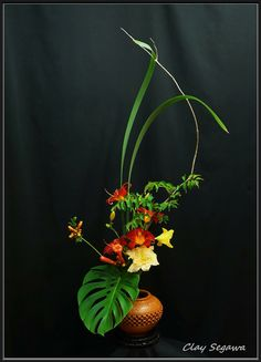 Ikebana by Clayton Segawa.