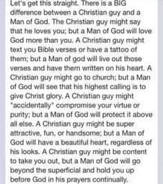 Christian guy vs. Man of God