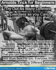 Bodybuilding - Arnies Trick For Beginner Bodybuilders