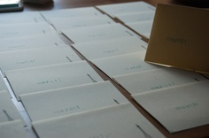 my hand stamped thank you cards.