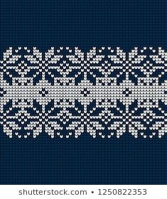 Christmas and New Year Design Seamless Knitting Pattern Baby Knitting Patterns, Knitting Designs, New Year Designs, Nordic Design, Sweater Design, Stock Foto, Cross Stitch Designs, Christmas And New Year, Couture