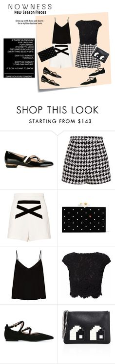 """""""Sin título #128"""" by riuk ❤ liked on Polyvore featuring Post-It, Nicholas Kirkwood, Emma Cook, Alexis, Charlotte Olympia, Raey, WtR London, Pretty Ballerinas and Les Petits Joueurs"""