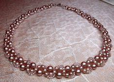 Free pattern for beaded necklace Cacao