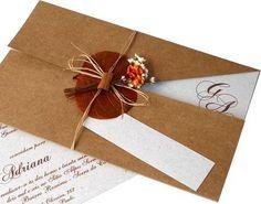 Convite de casamento rústico ideal para quem vai casar num sitio ou numa praia. http://www.balgraphic.com.br