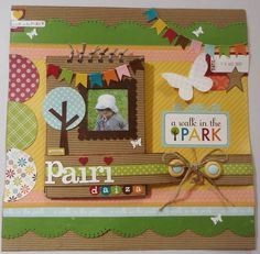 concours scrapparlipapote - papiers Echo Park Walk in the park