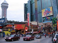 """The city of Ontario that surrounds the Niagra Falls area is great for sightseeing and shops and eateries like the entertainment restaurant """"Planet Hollywood"""" Places Ive Been, Places To Go, Niagara Falls Ontario, Clifton Hill, Wonderful Places, Amazing Places, Planet Hollywood, Wonders Of The World, The Good Place"""