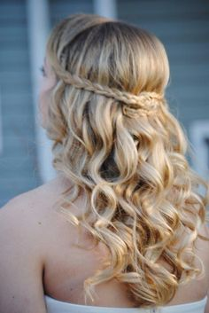 Special occasion hair on my little cousin Hannah. #prom #bridesmaid #updo
