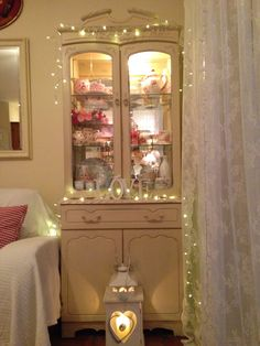 Fairylights - nice idea even for a child's bedroom as night lights.
