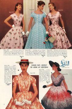 1950s Dress Style: Lana Lobell Dress Catalog