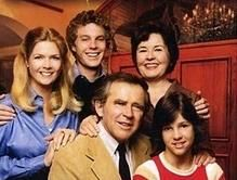 Cast of the show Family Meredith Baxer (Nancy Lawrence Maitland),  Gary Frank (Willie Lawrence), James Broderick (Doug Lawrence), Sada Thompson (Kate Lawrence), and Kristy McNichol ('Buddy' Lawrence)