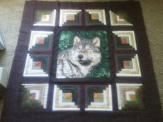 ok got my wolf all framed up... now on to the body of the quilt.... im soooo excited about this one <3