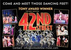 I saw 42nd Street with the American touring company in Jacksonville in 2000.  It isn't my favorite musical.