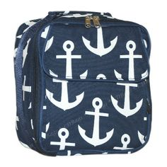 Shop With Carolina Girl Store - Anchor Lunchbag, Personalized Lunchbox, Chevron Lunch Tote Navy, $18.95 (http://www.shopwithcarolinagirl.com/anchor-lunchbag-personalized-lunchbox-chevron-lunch-tote-navy/)