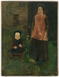 Max Liebermann (1847—1935),  Zwei holländische Mädchen, ca. 1882    Galerie Ludorff