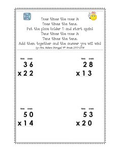 Multiple Strategies For MultiDigit Multiplication  LessonUnit