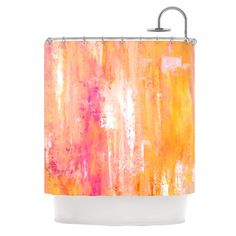 "CarolLynn Tice ""Girls Night Out"" Yellow Shower Curtain - Outlet Item"