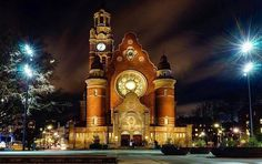 Sankt Johannes Church in Malmö. The church was built during the years and was designed by architect Axel Anderberg Big Ben, Lighthouse, Sweden, Tourism, Building, Travel, Beautiful, Design, Bell Rock Lighthouse