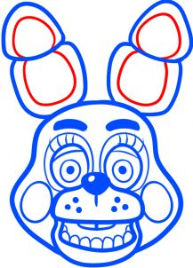 how to draw toy bonnie from five nights at freddys 2 step 9 Five Nights At Freddy's, Freddy S, Fnaf Coloring Pages, Toy Bonnie, Fnaf Cake, Fnaf Drawings, Online Drawing, 8th Birthday, Birthday Ideas