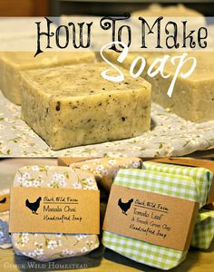 Cluck Wild Homestead: How to Make Soap (Butter Packaging Mom) Diy Savon, Savon Soap, Homemade Soap Recipes, Homemade Bar, Soap Packaging, Design Packaging, Packaging Ideas, Diy Spa, Soap Molds
