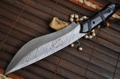Handmade Damascus Hunting Knife - Full Tang Bowie Knife - ZT11