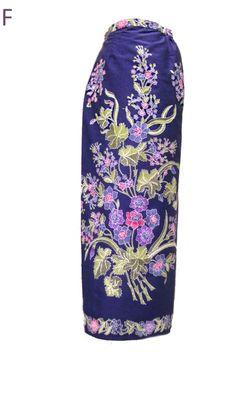 Sarong Batik - Floral Blue
