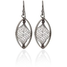 White House Black Market Crystal Encased Drop Earrings ($30) ❤ liked on Polyvore featuring jewelry, earrings, crystal drop earrings, nickel free earrings, white house black market, handcrafted earrings e hand crafted jewelry
