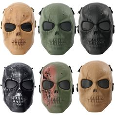 Tactical Airsoft Full Face Protective Skull Mask Paintball CS War Game