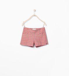 Printed piqué shorts - Skirts & Shorts - Girl (3 - 14 years) - KIDS | ZARA United States