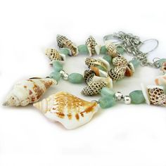 Natural Sea Shell Curtain Ties Shell Curtain by EarthlieTreasures, $24.95