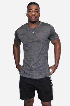 Camo Designs, Print Logo, Physique, Short Sleeves, Slim, Medium, Tees, Fitness, Model