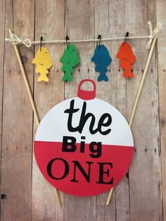 First birthday fishing cake banner bunting the by BBAHomemade
