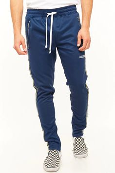 Product Name:Karter Collection Metallic Stripe Track Pants, Category:CLEARANCE_ZERO, Price:48