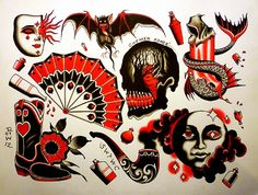 New ideas for neo traditional tattoo drawings Traditional Tattoo Drawings, Traditional Style Tattoo, Traditional Ink, American Traditional, Tradional Tattoo, Tatto Old, Old School Tattoo Designs, Modern Tattoos, Geniale Tattoos