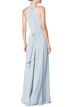 Simple, chic, chiffon formal gown.