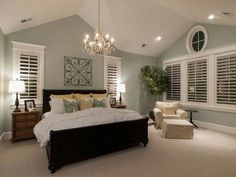 Relaxing master bedroom ideas Tags: master bedroom ideas rustic small master bedroom ideas master bedroom ideas romantic master bedroom ideas for couples Romantic Master Bedroom, Modern Master Bedroom, Farmhouse Master Bedroom, Master Bedroom Design, Home Decor Bedroom, Master Suite, Trendy Bedroom, Bedroom Designs, Master Room