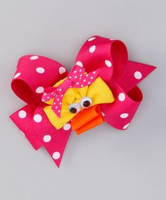 Look at this #zulilyfind! Pink Polka Dot Bow & Duck Clip Set by Picture Perfect Hair Bows #zulilyfinds
