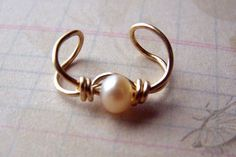 Gold Ear Cuff Freshwater Pearl Jewlery but would make a cute bracelet