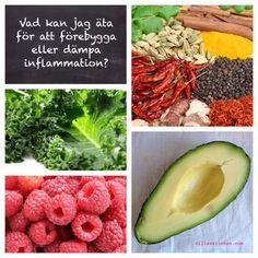 Nillas kitchen I det här inlägget kan du läsa om hur troligt det är att du har ett kroniskt inflammationstillstånd i kroppen och hur du förebygger det och därmed uppkomsten av sjukdomar med hjälp av kosten. Har du redan en eller flera sjukdomar kan det hjälpa avsevärt att äta en kost som avhjälper inflammation. Läs längre ned för listor på riktlinjer och kostråd. Och mycket mer