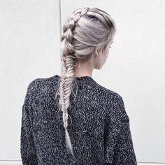 Imagem de girl, hair, and braid