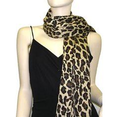 3 Ply Cashmere Pashmina Leopard Animal Print Wrap