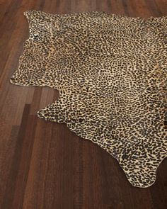 Alida+Leopard-Print+Hairhide+Rug,+6\'+x+7\'+at+Horchow.