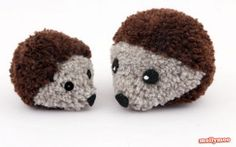 How cute are these Pom Pom Hedgehogs?!
