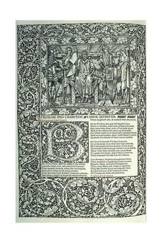 Scene from 'Troilus and Criseyde' Giclee Print by William Morris at Art.com