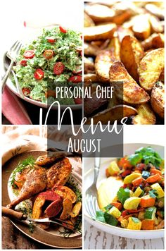 August Personal Chef Menus from A Thought For Food Personal Chef Service in Memphis, Tennessee. Here's everything I cooked for clients in August, Healthy Food Swaps, Healthy Food Alternatives, Healthy Food Options, Healthy Foods To Eat, Healthy Recipes, Dinner Dishes, Food Dishes, Main Dishes, Side Dishes